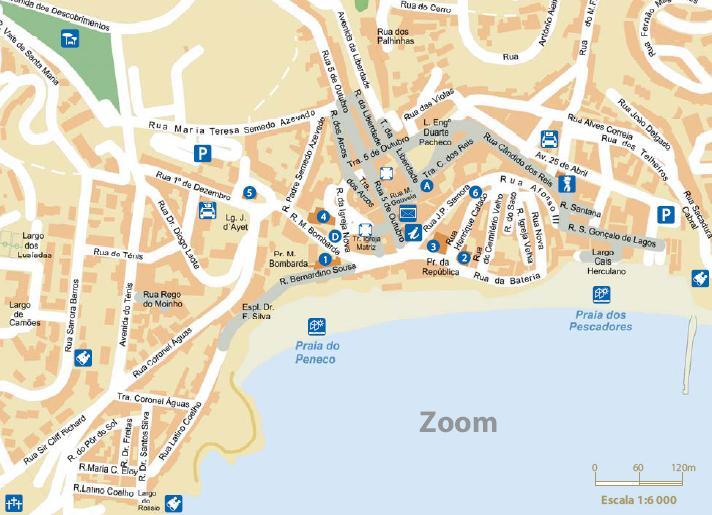 Albufeira Map Street