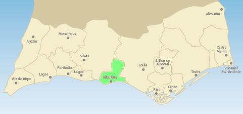 Algarve Albufeira Map