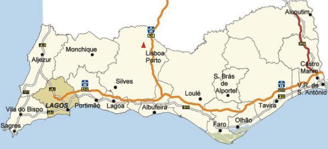 Algarve Lagos Map
