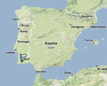Algarve Map Iberia