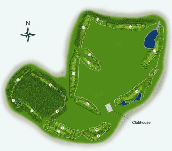 Millennium Golf Course Map