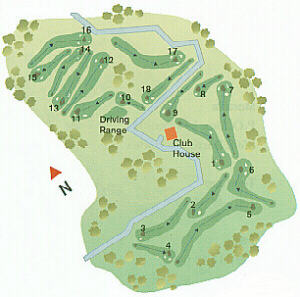 Palmares Golf Course Map
