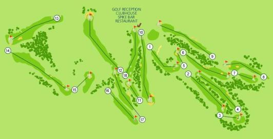 Parque da Floresta Golf Course Map