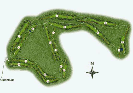 Pinhal Golf Course Map
