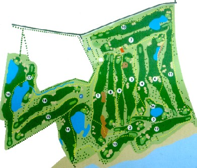 Quinta da Ria Golf Course Map