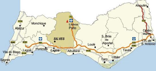 Silves Map