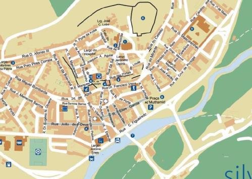 Silves Street Map
