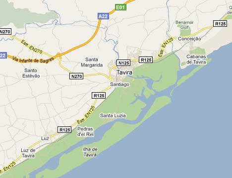 Tavira Map