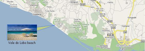 Vale do Lobo Map