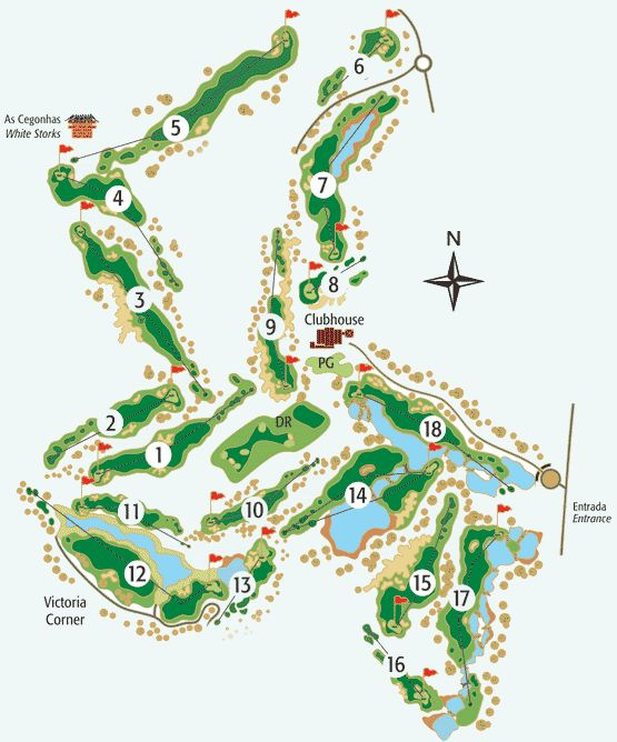 Victoria Golf Course Map