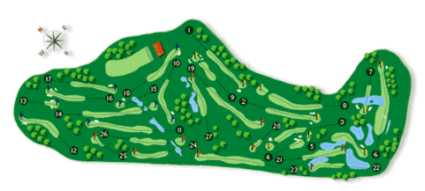 Vila Sol Golf Club Map