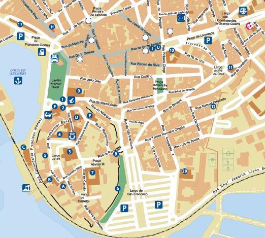 Algarve Faro Street Map