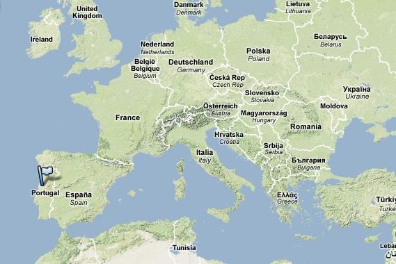 Algarve Map in Europe