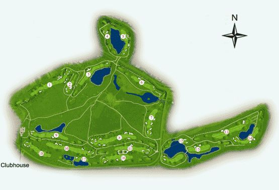 Laguna Golf Course Map