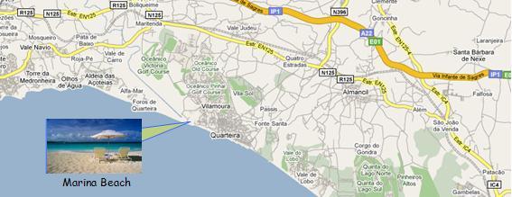 Vilamoura Marina Map