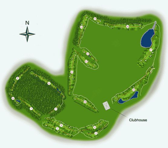 Millennium Golf Course Map