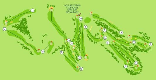 Parque da Floresta Golf Course Map