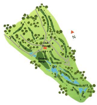 Pinheiros Altos Golf Course Map