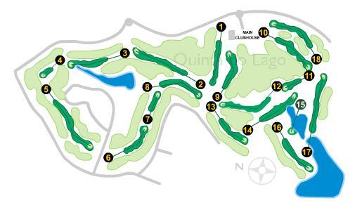 Quinta do Lago South Golf Course Map